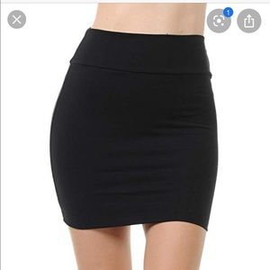BCBG black mini skirt